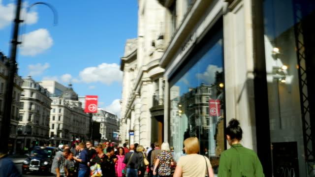 T/L POV People In London Regent Street (4K/UHD to HD)