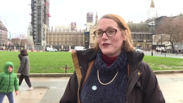 people in london's parliament square share their thoughts after brexit supporters began a crowfunding campaign to pay for london's big ben to bong at... - big ben stock videos & royalty-free footage