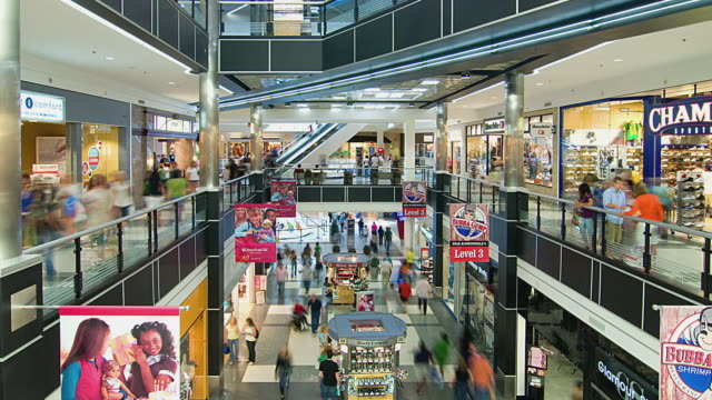 t/l ws ha zo people in mall of america, bloomington, minnesota, usa - shopping centre stock videos & royalty-free footage