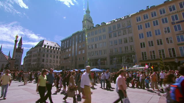 WS People in Marienplatz square / Munich, Bavaria, Germany