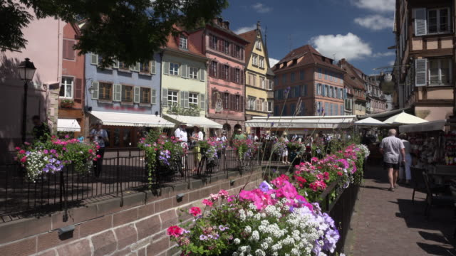 People in old town of Colmar