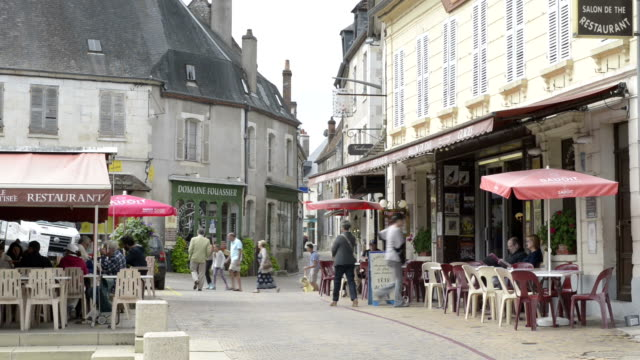 people in old town of sancerre - old town stock videos & royalty-free footage