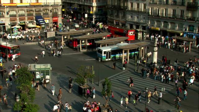 WS HA PAN People in Puerta del Sol, Madrid, Spain