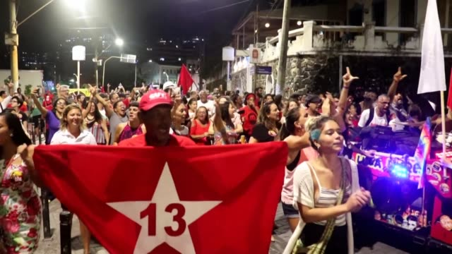 people in salvador celebrate as brazils leftist icon luiz inacio lula da silva walked free from jail on friday after a year and a half behind bars... - prisoner icon stock videos & royalty-free footage