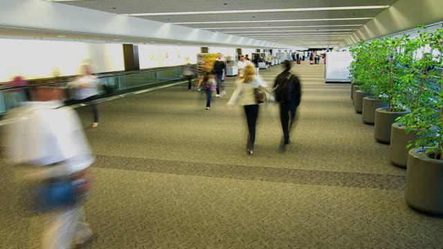 t/l ws people in san francisco international airport, san francisco, california, usa - san francisco international airport stock videos & royalty-free footage