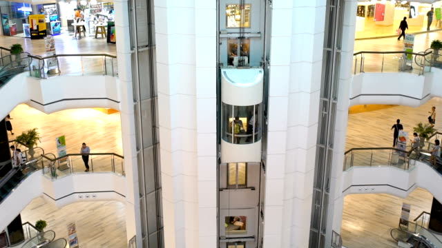 people in shopping mall,slow motion - shopping centre stock videos & royalty-free footage