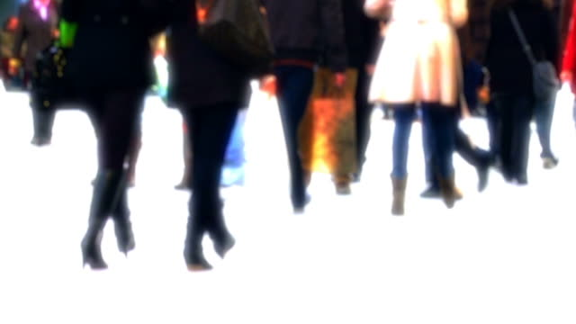 People In Shopping Street Slow Motion