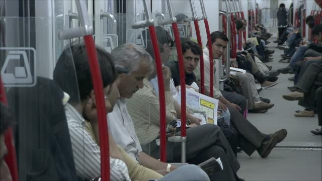 ms people in subway train, tehran, iran - tehran stock videos & royalty-free footage