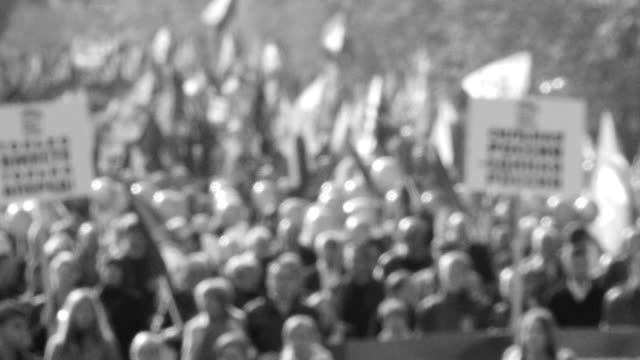 people in the demonstration - government stock videos and b-roll footage