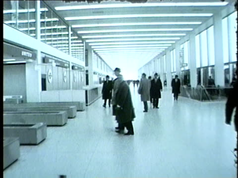 WGN People in the United Airlines Terminal at Chicago's O'Hare Airport in 1962