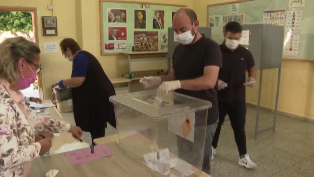 people in turkish-held northern cyprus, a breakaway state recognised only by ankara, are voting for a new leader in a run-off election held amid... - runoff election stock videos & royalty-free footage