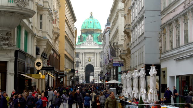people in vienna city, time lapse - vienna austria stock videos & royalty-free footage