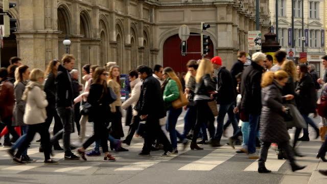 people in vienna - pedestrian stock videos & royalty-free footage