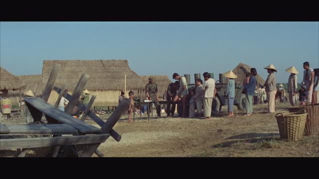 ws people in vietnamese village / vietnam - 1968 stock videos and b-roll footage