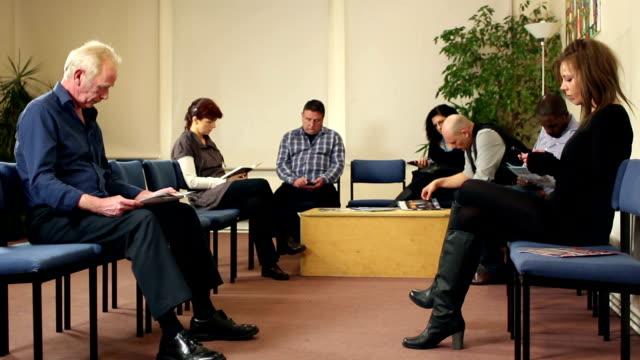 People in Waiting Room - Wide shot