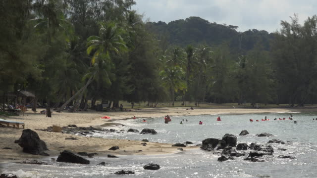People in water at Ong Lang beach