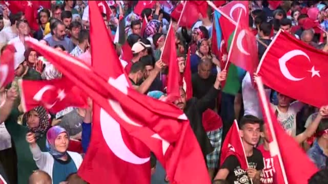 people including celebrities and artists gather at the taksim square to protest against the parallel state/gulenist terrorist organization's failed... - staatsstreich stock-videos und b-roll-filmmaterial