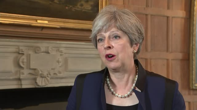 people killed in barcelona and cambrils vehicle attacks; england: london: int theresa may mp interview sot - sadly, i must tell you that we do... - cambrils stock videos & royalty-free footage