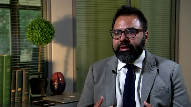 people killed in barcelona and cambrils vehicle attacks; england: london: int dr shiraz maher interview sot - cambrils stock videos & royalty-free footage
