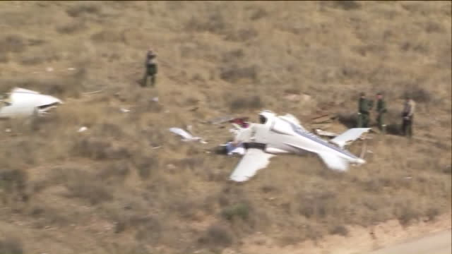 people killed in small plane crash near santa clarita. - santa clarita stock videos & royalty-free footage