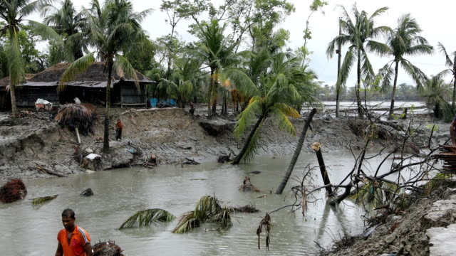 people leading their lives in the coastal areas in bangladesh on september 15, 2020. bangladesh is one of the country's most vulnerable to the... - natural disaster stock videos & royalty-free footage
