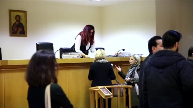 people leave greece's first administrative court following the trial of jailed leader of kurdistan workers' party abdullah ocalan to a demand for... - sentencing stock videos & royalty-free footage
