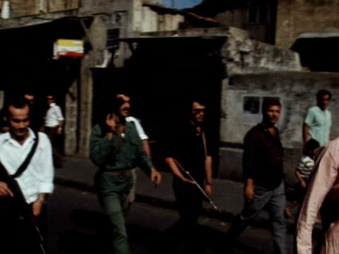 people line the streets for funeral of gamal abdel nasser - number of people stock videos & royalty-free footage