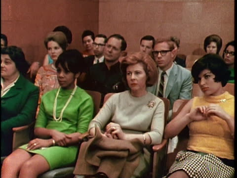 1967 MS People listening to lecture on alcoholism, Los Angeles, California, USA, AUDIO