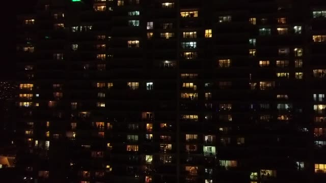 people living in izmir province stand on balconies and lean out of windows to clap and cheer doctors and healthcare workers amid coronavirus outbreak... - balcony stock videos & royalty-free footage