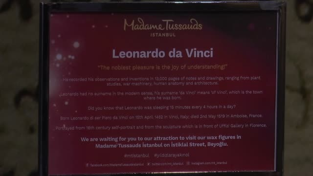 people look at the artworks including mechanics devices original handwritten manuscript paintings and drawings made on basis of leonardo da vinci's... - manuscript stock videos and b-roll footage