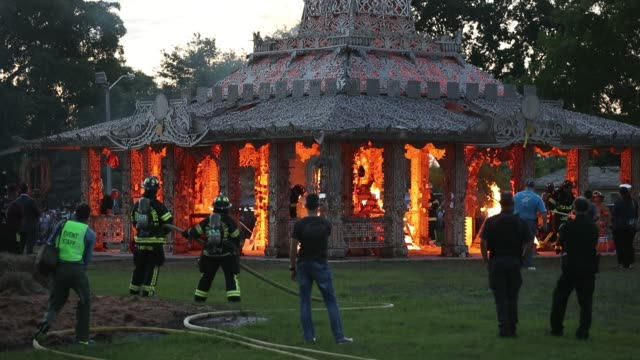 """FL: """"Temple Of Time"""" Art Installation Burned In Ceremonial Fire"""