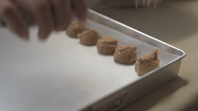 people made a homemade cookie - baking sheet stock videos & royalty-free footage