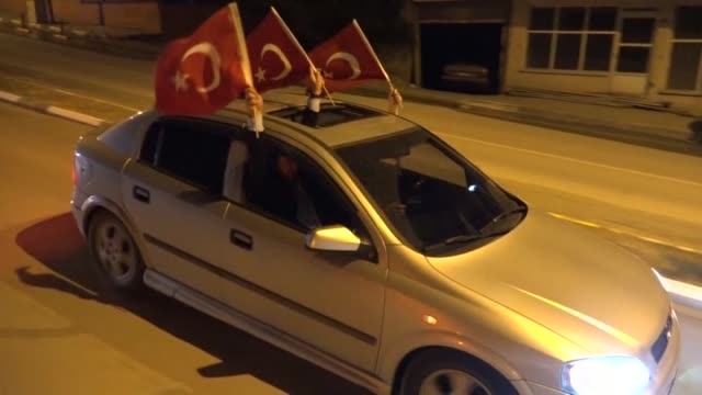people meskhetian turks gather to protest against parallel state/gulenist terrorist organization's failed military coup attempt in erzincan turkey on... - staatsstreich stock-videos und b-roll-filmmaterial