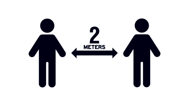 people moving 2 meters apart from each other for social distancing to avoid exposure to virus, bacteria and other disease causing pathogens - distant stock videos & royalty-free footage