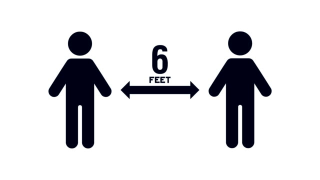 people moving 6 feet apart from each other for social distancing to avoid exposure to virus, bacteria and other disease causing pathogens - biomedical animation stock videos & royalty-free footage