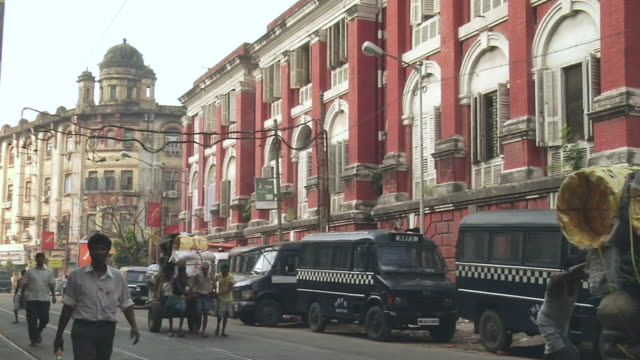 ms people moving  in lalbazar of city   / kolkata, west bengal, india - kolkata stock videos & royalty-free footage