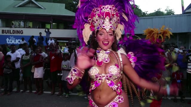 People of all ages from around the world gathered for the 2015 Carnival International in Victoria Seychelles on Mahe Island