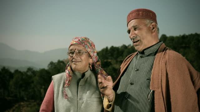 People of Himachal Pradesh: Happy senior couple looking away