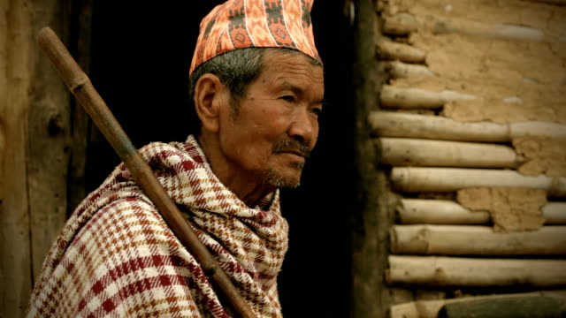 people of nepal: senior man from rural background - adobe bildbanksvideor och videomaterial från bakom kulisserna
