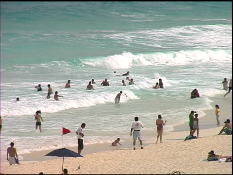 People on Cancun Beach