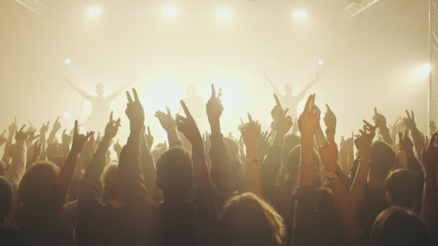 people on concert waving and clapping hands - waving stock videos & royalty-free footage