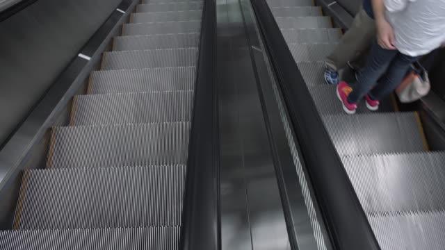 ms people on escalators - subway station stock videos & royalty-free footage