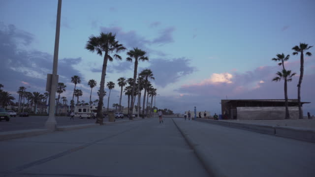 people on footpath in venice, california - venice california stock videos & royalty-free footage