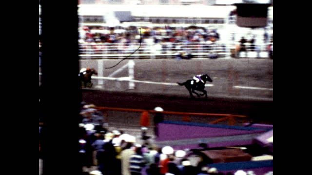"people on horseback inside field, words on fence ""calgary""; people on horseback racing on the racetracks, people watching outside the fence - rodeo stock videos & royalty-free footage"