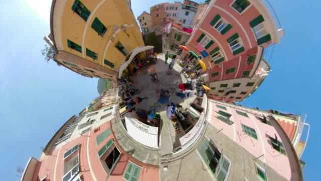 ZO / People on Piazza in italian village Vernazza