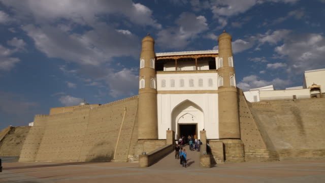 people on steps of the ark of bukhara - circa 5th century stock videos & royalty-free footage