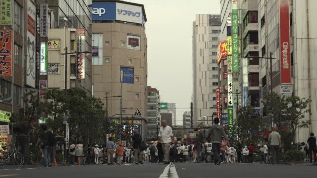 WS People on street at Kanda Matsuri (Shinto festival), Tokyo, Japan