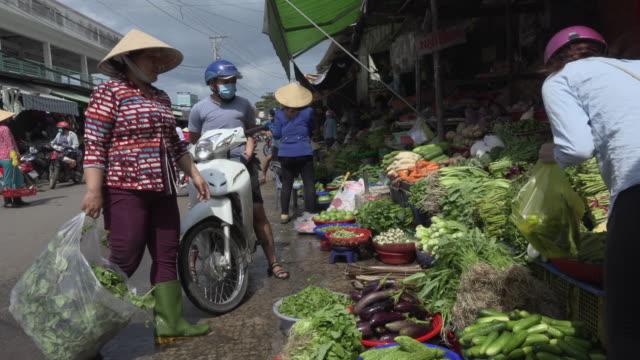 People on street market