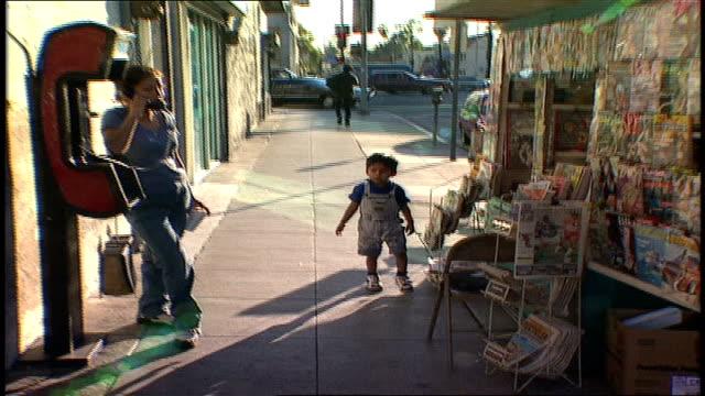 people on la street - public phone stock videos & royalty-free footage