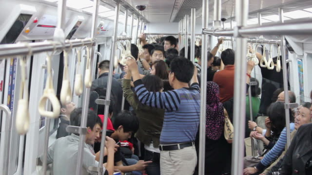 MS People on subway/xian,shaanxi,China